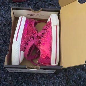 Pink glitter converse 3c